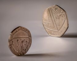 20p and 50p Coins