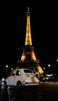 Eifel tower view from the front in night