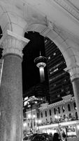 Downtown Calgary at night, Black and White, B&W photography