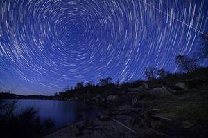 Star Trails over Eastman Lake