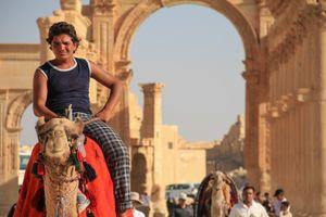 The boy on a camel
