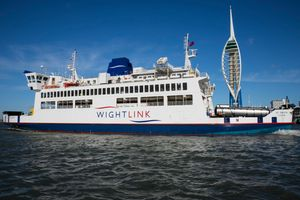 Wightlink ferry St Faith leaving Portsmouth