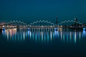 One of the beautiful bridges of city Riga, Latvia