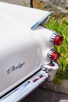Rear End - Tail Fin - 1957 Dodge Coronet Blue and White