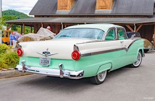 Two Tone Vintage Ford Fairlane - Green and White Classic Car
