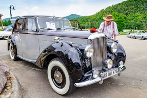 Vintage Two Tone Bentley Luxury Car - grey and black