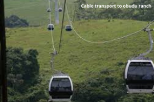 Cable transport to obudu ranch