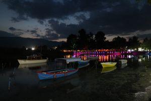 Boats at night - Struga, Macedonia
