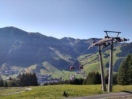 Mountain railway in the Austrian Alps