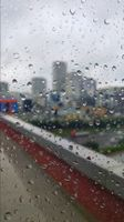 The city hiding in the raindrop.