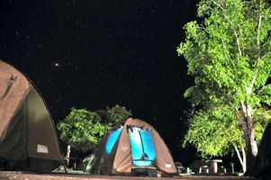 Tenting in Namibia