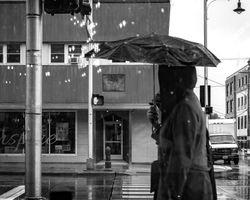 Raining Lights from Coffee Shop