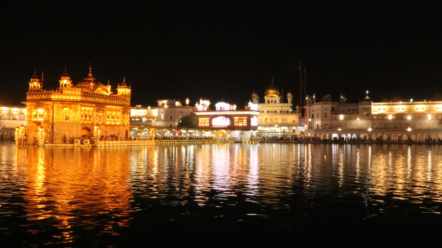 People and Places (Golden Temple at Night)