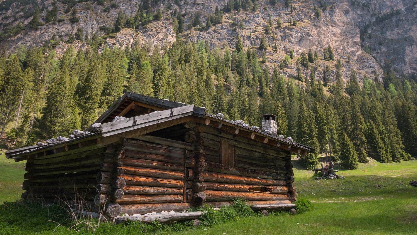 Almhuette - log cabin in the mountains