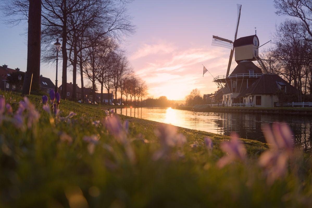 Sundowner on the canal