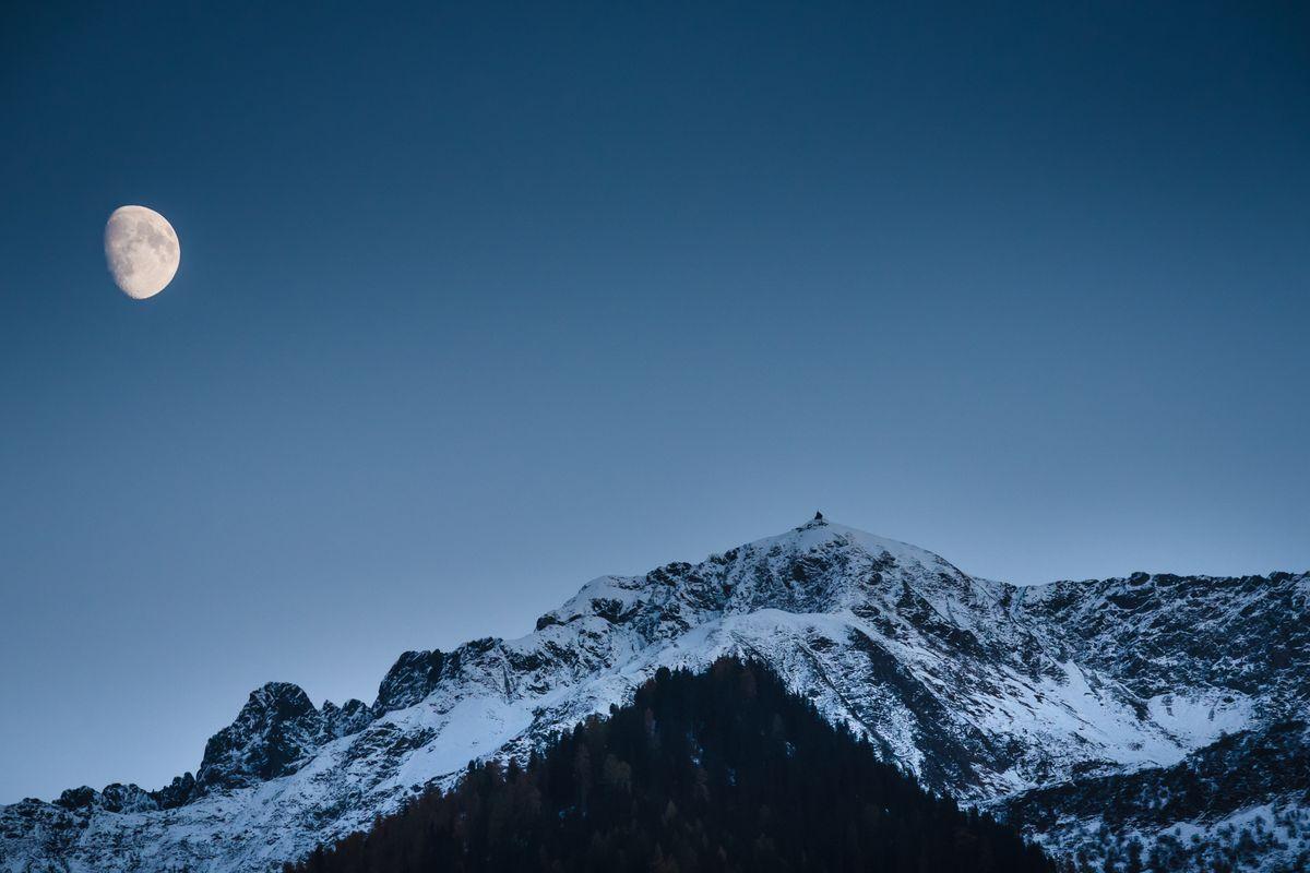 Moonrise over Schwaz