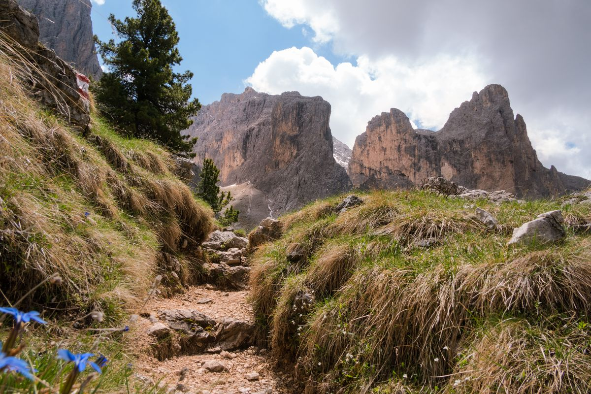 Mountain trail in the Dolomites