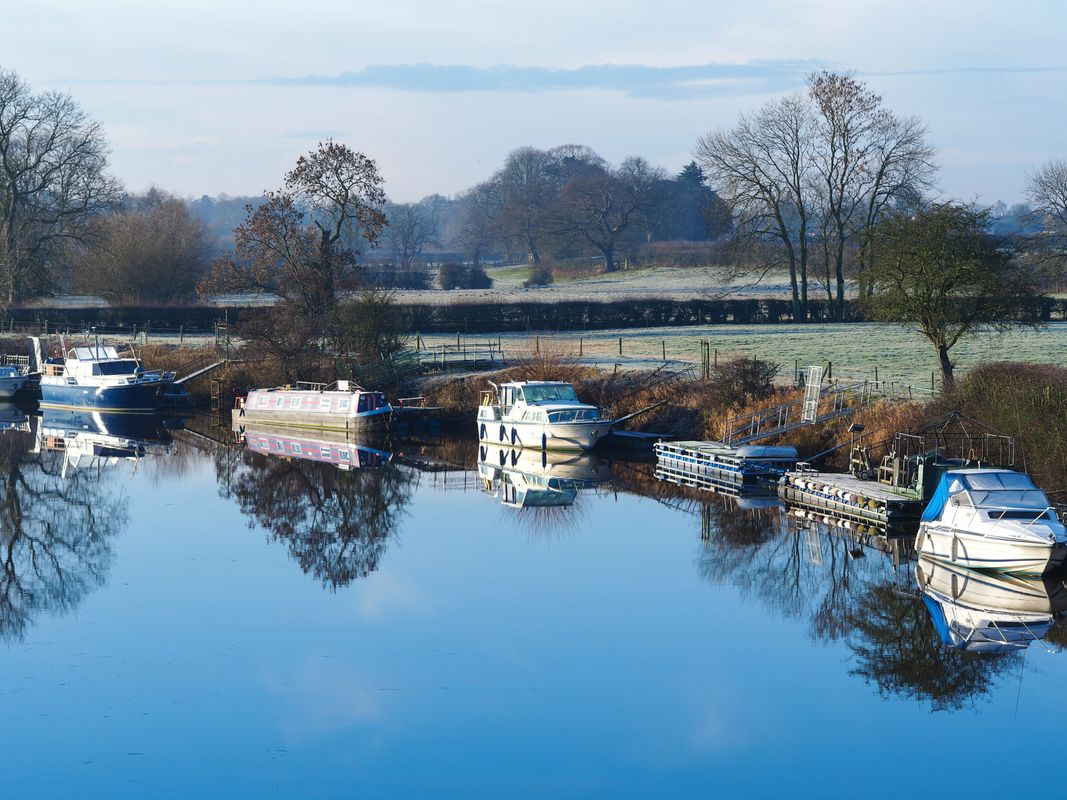 Frosty morning at the River Ouse