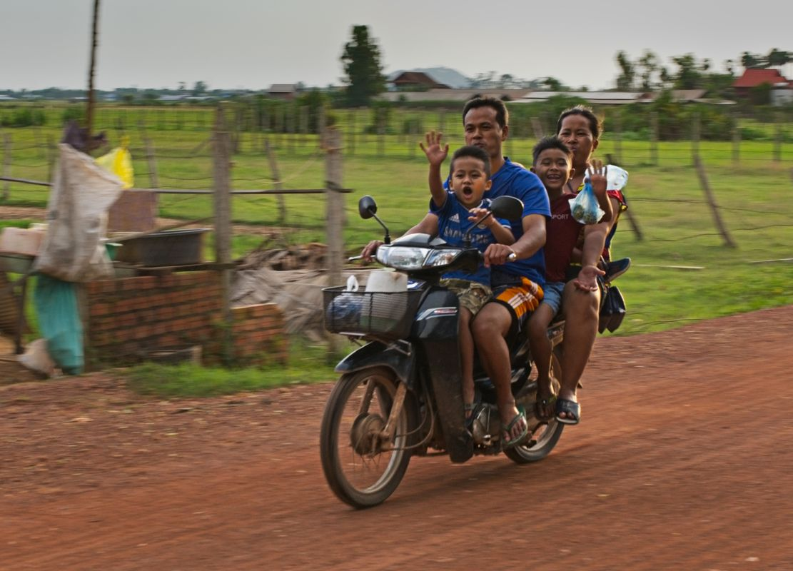 Family transport in Cambodia