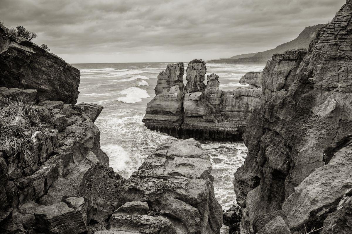 Punakaiki rocks out to sea