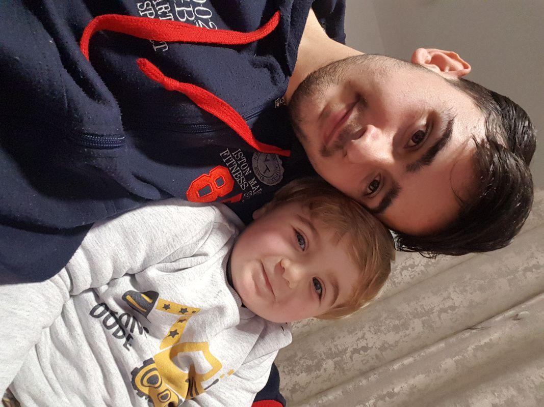 With me nephew