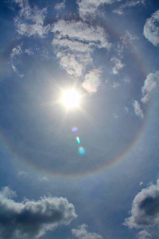 Sun rainbow ring