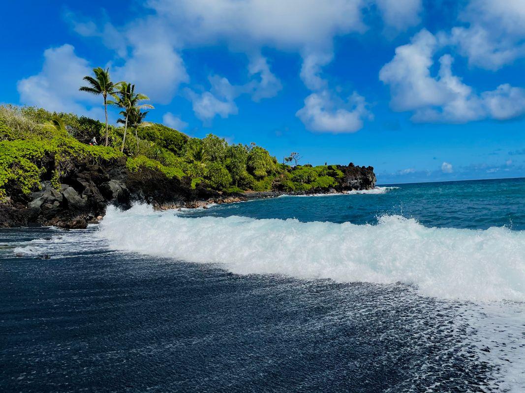 Black Sand Beach --Travel