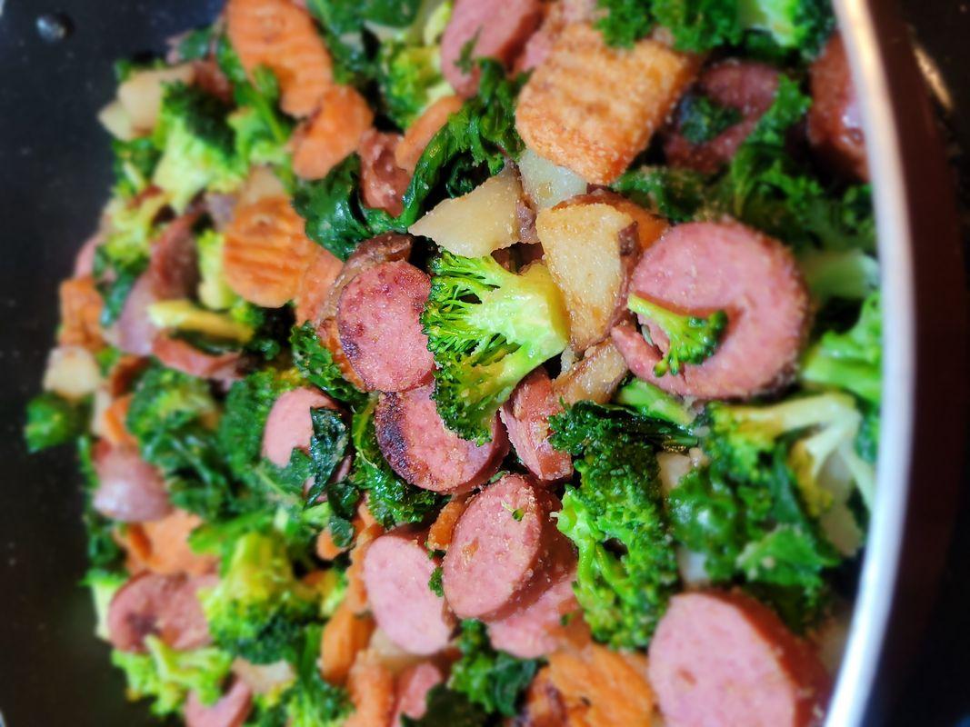 Spring Sausage Stir Fry, Meal Prep