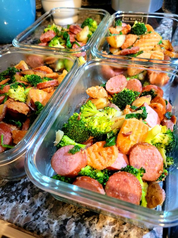 Spring Sausage Stir Fry, Meal Prep - Complete