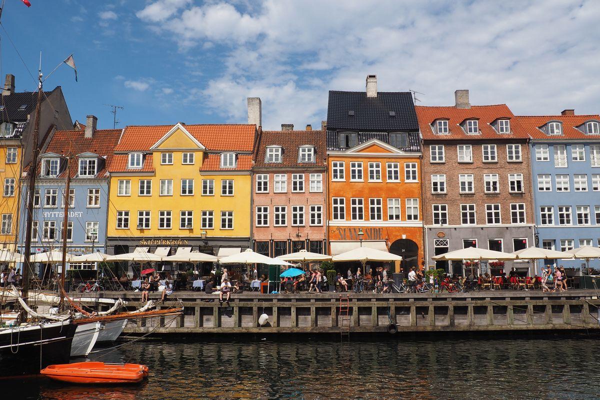 Colorful houses in Nyhavn, Denmark