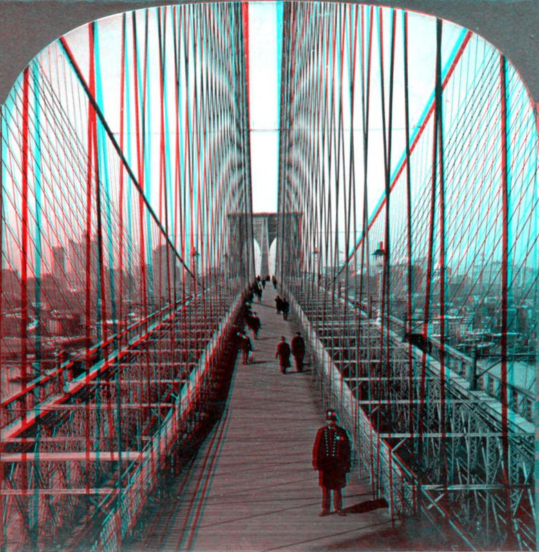 Brooklyn Bridge 3D anaglyph
