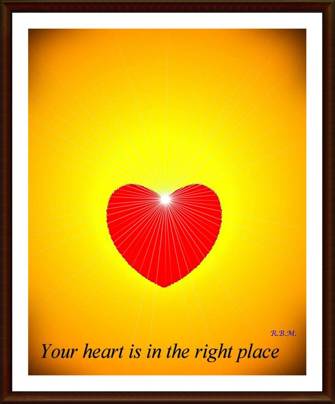 Your heart is in the right place.