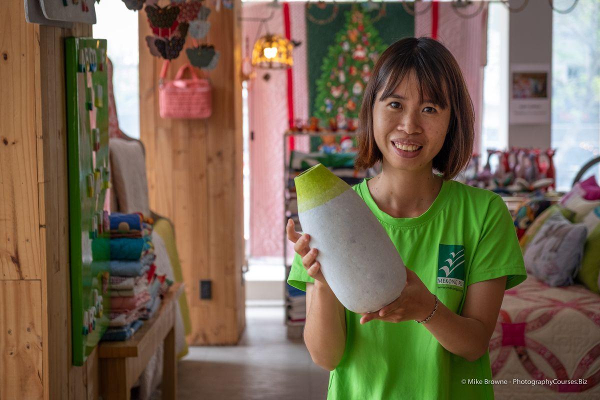 Thi Shows Paper Mache Vase