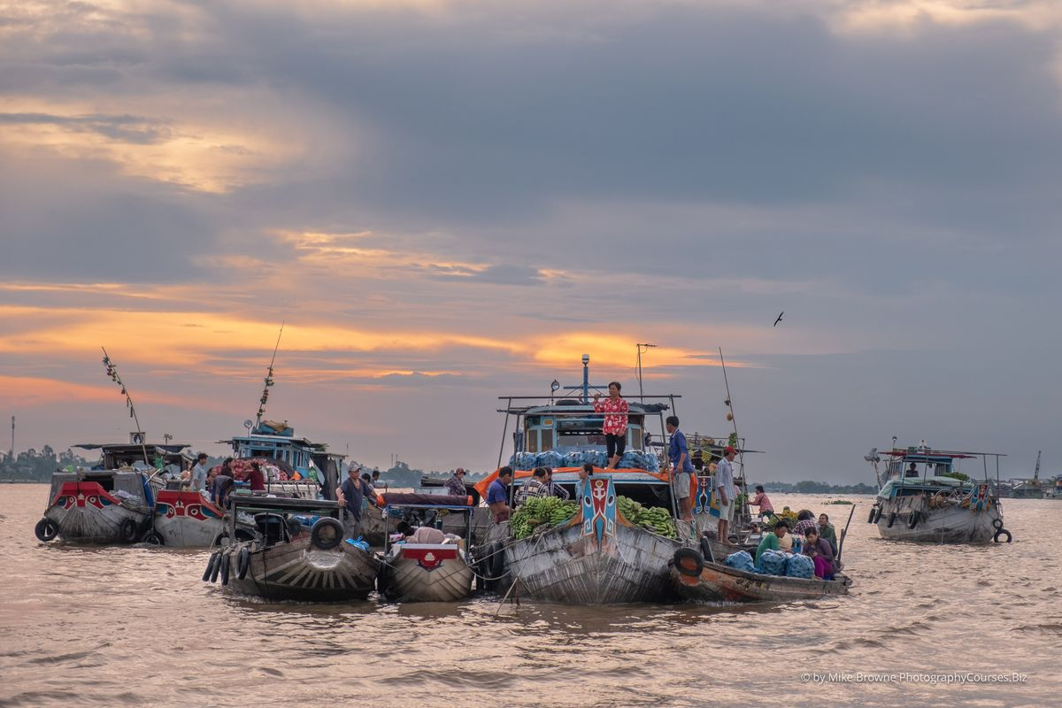 Sunrise - Chau Doc Floating Market