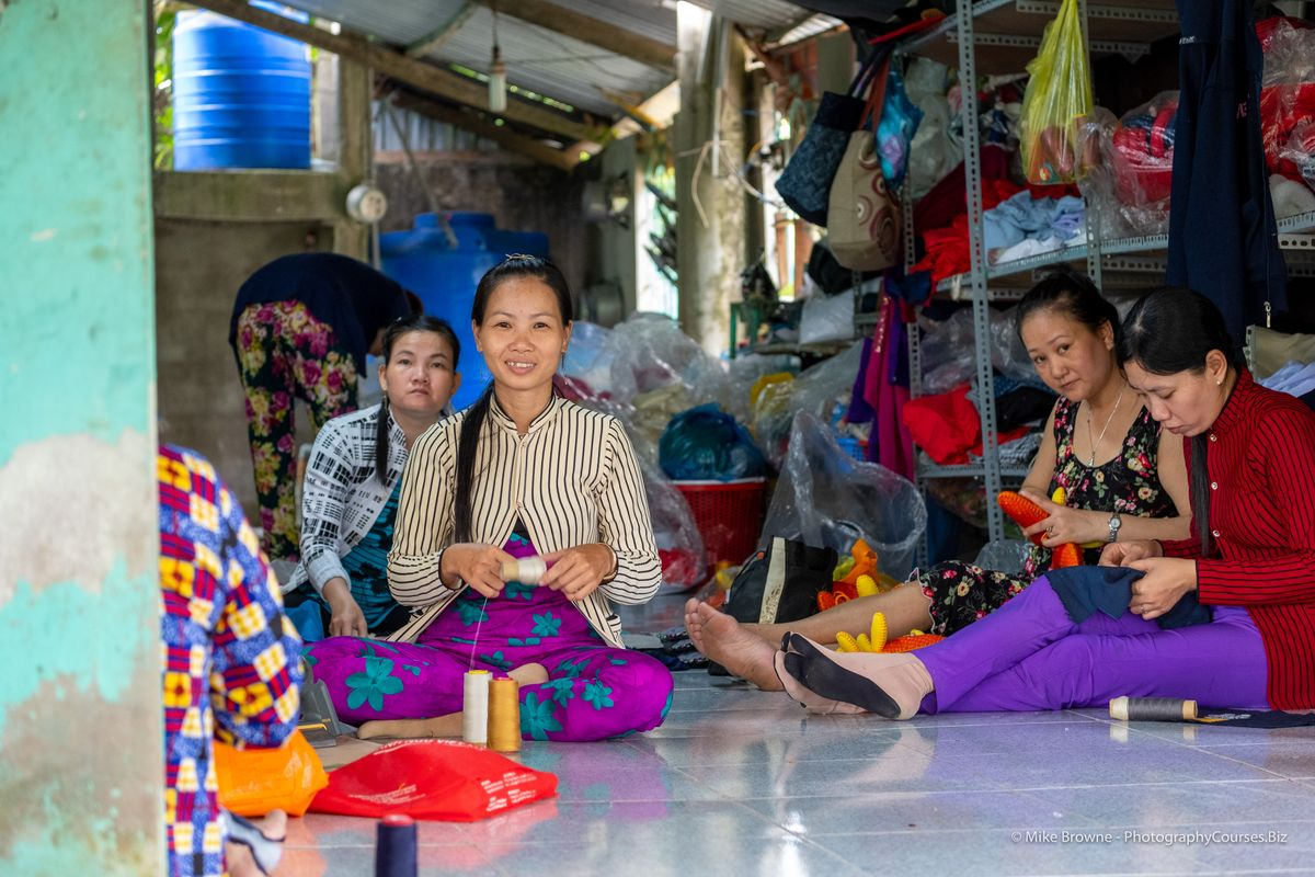 Ladies at Mekong Quilts