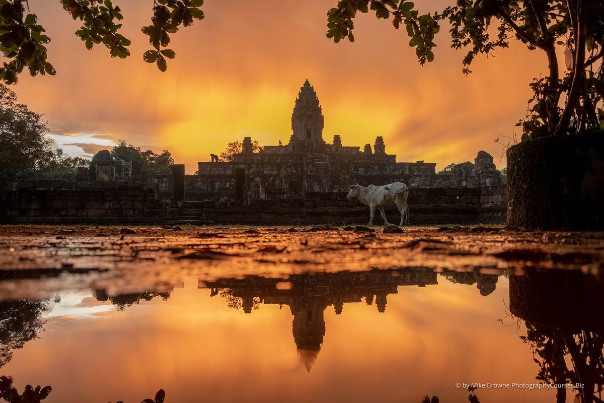 Sunset at Bakong