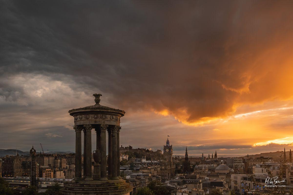 Stormy Edinburgh Evening