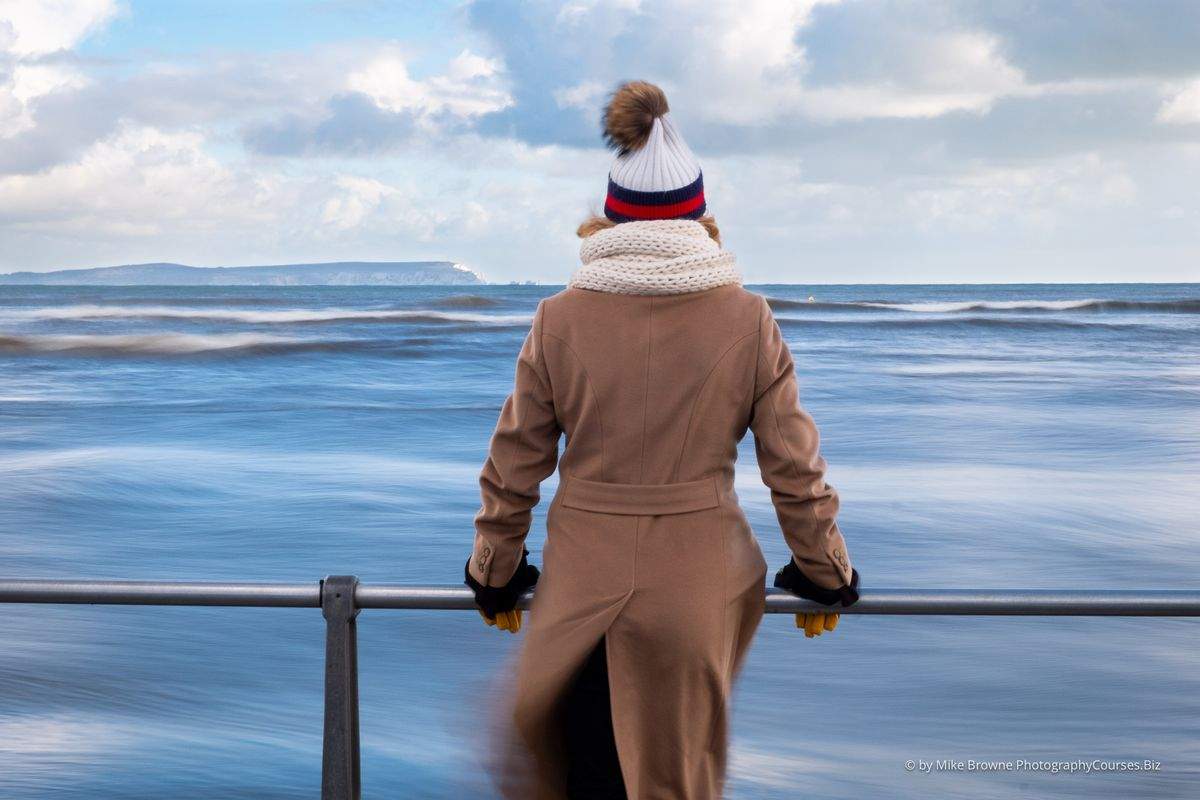 Woman Admiring The Waves