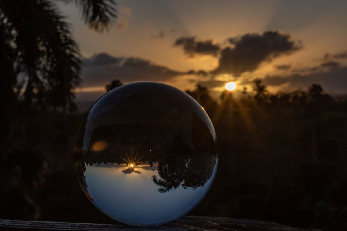 Crystal Ball with Sunset