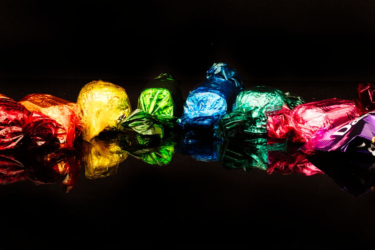 Colourful chocolate sweeties
