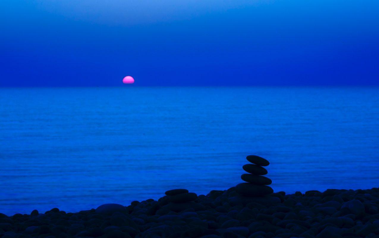 Beautiful pink moon