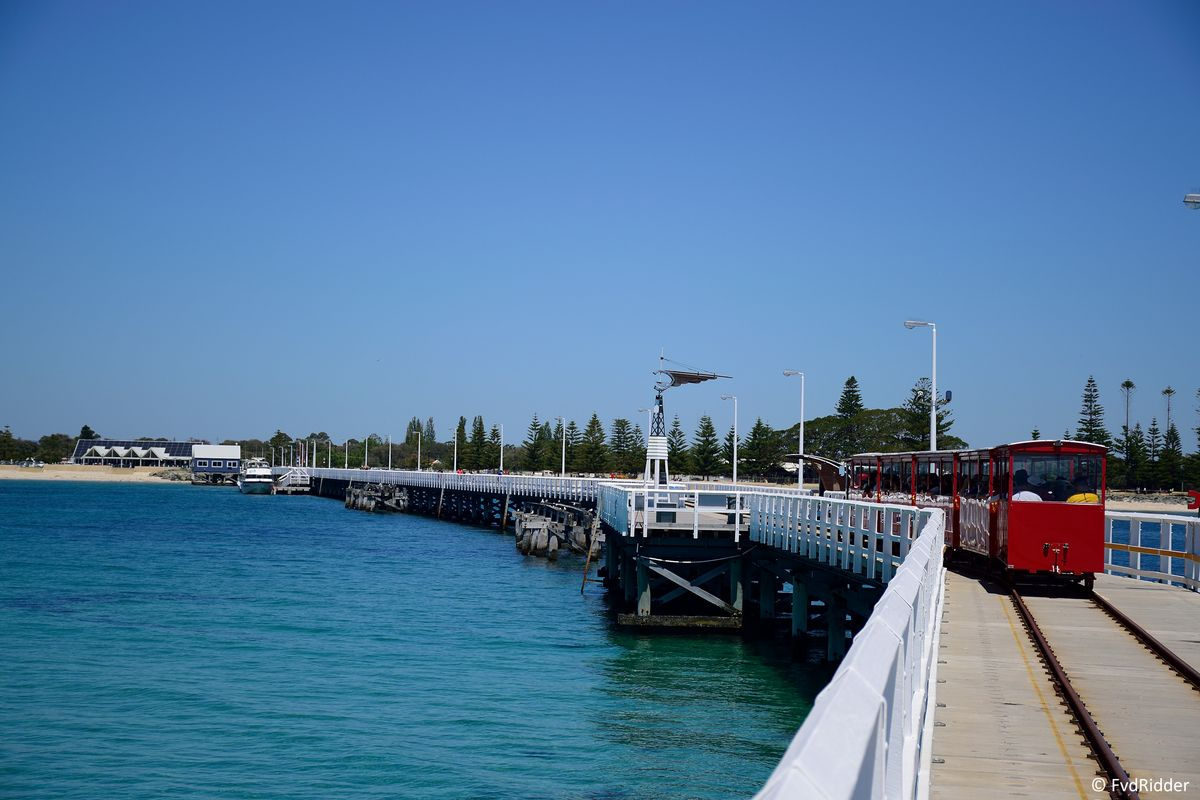 Halfway on the jetty