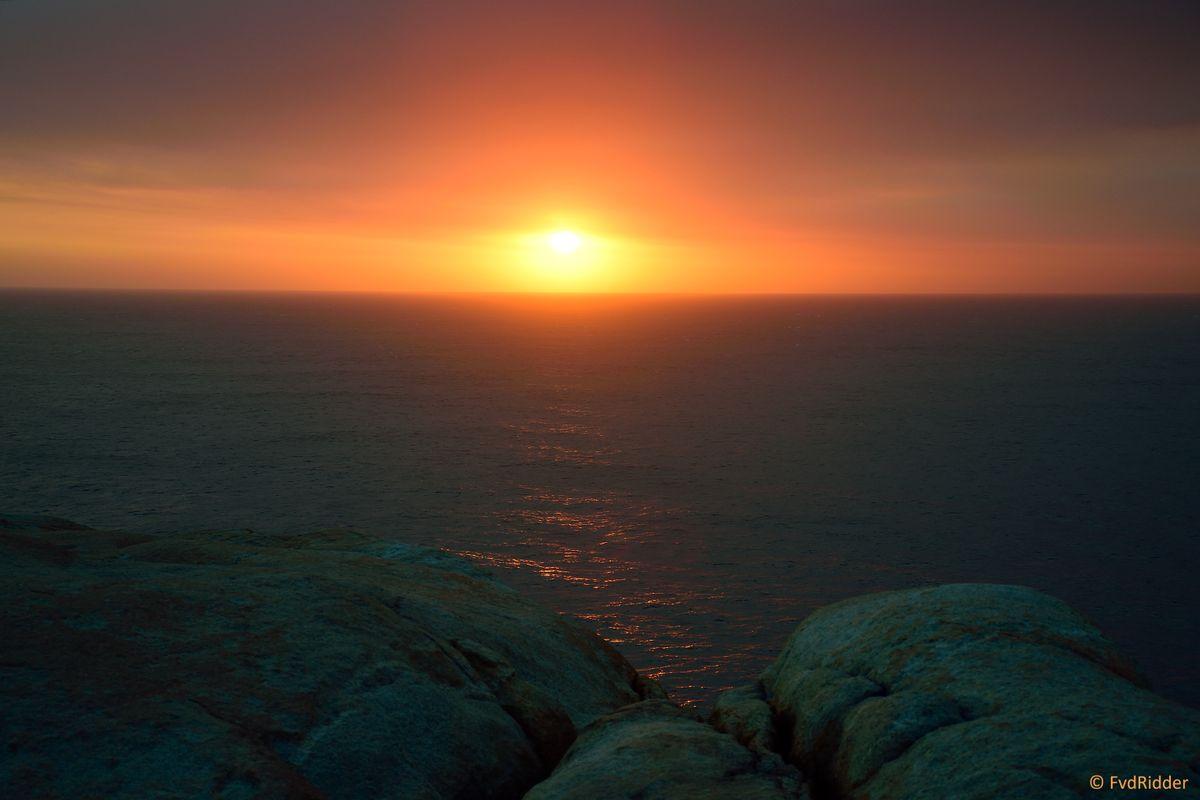 Smoke blocking the sunset