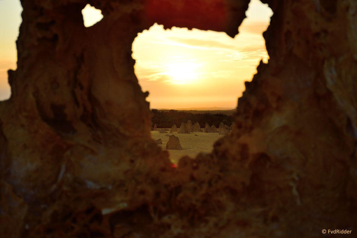 The hole sunset