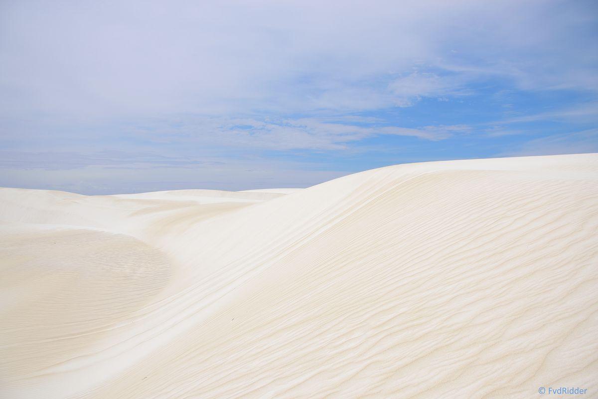 White sand everywhere