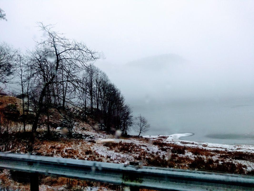 Norwegian winter beach