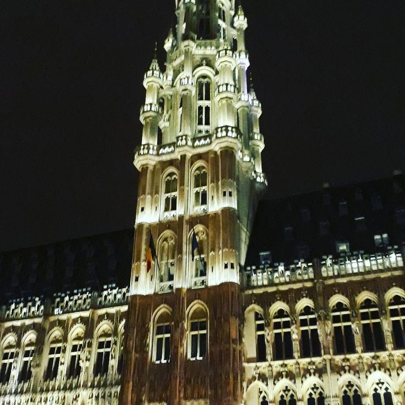 The Grand Place in Brussels by night