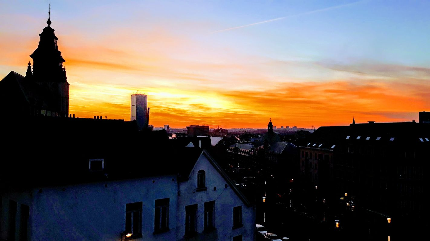 Sunset over Brussels, Belgium