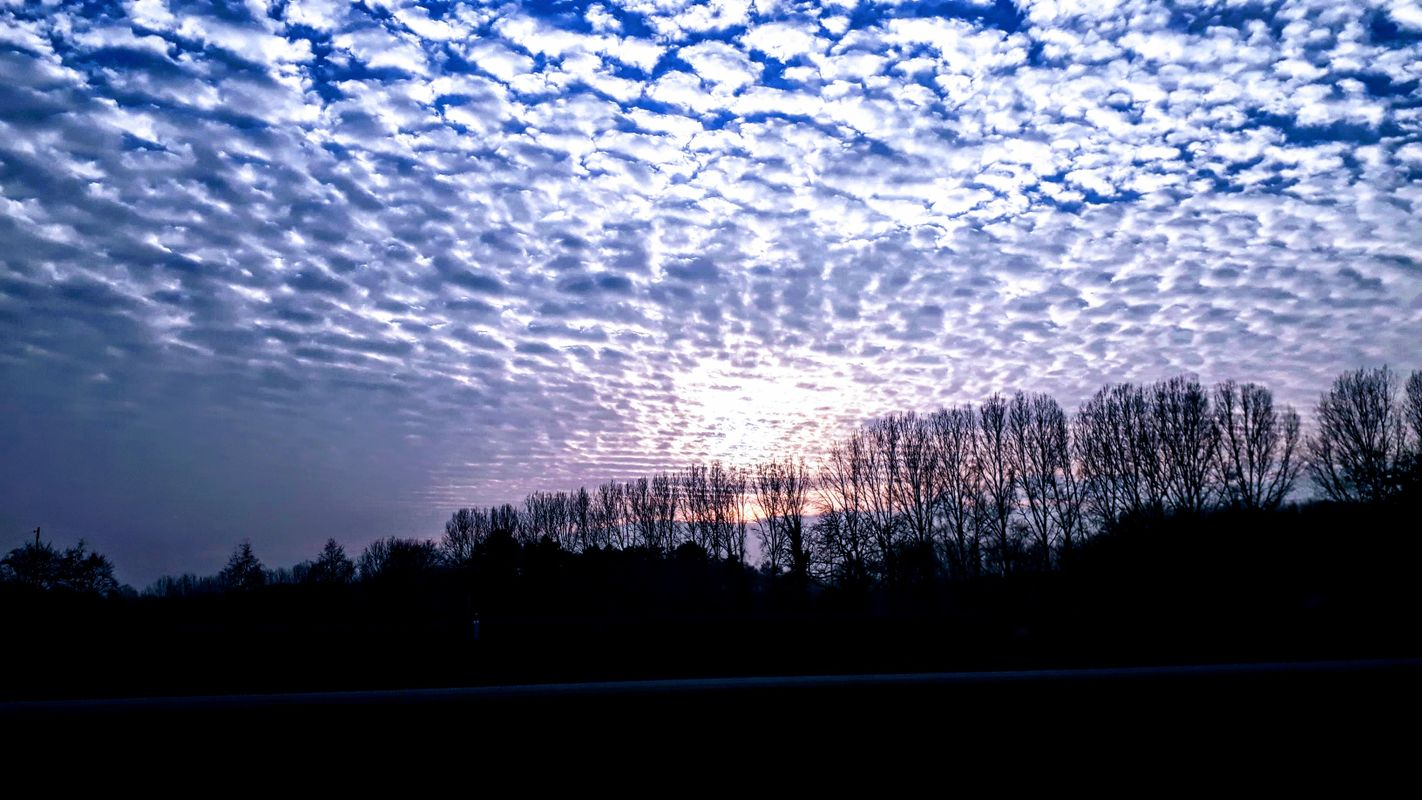 Beautiful clouds in the evening sky