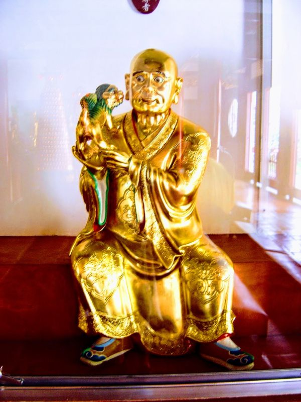 Golden statue in a temple in Taiwan